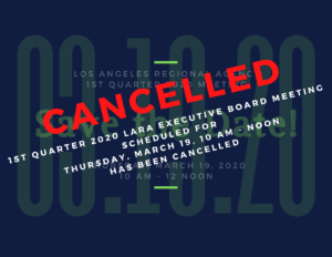 Cancellation of 1st Quarter 2020 meeting